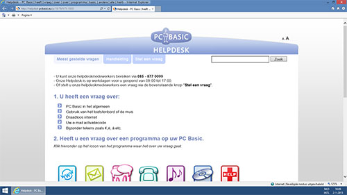 PC Basic functies Helpdesk